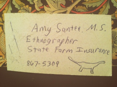 ethnographer business card