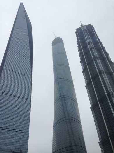 Skyscrapers in the Lujiazui financial trade zone