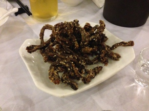 Fried eels