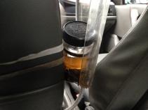 Cab drivers keep tea handy