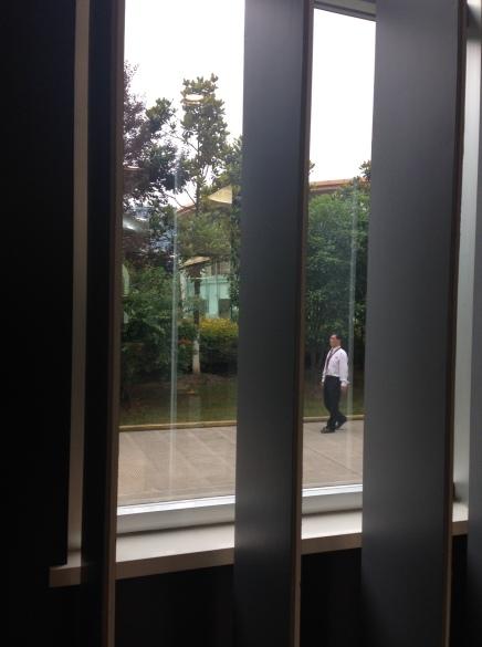 "A man walking backwards (a.k.a. ""retrowalking"")"