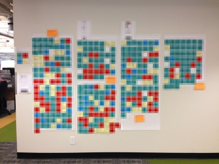 sticky note wall 1 pixelated