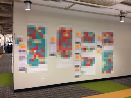 sticky note wall 2 pixelated