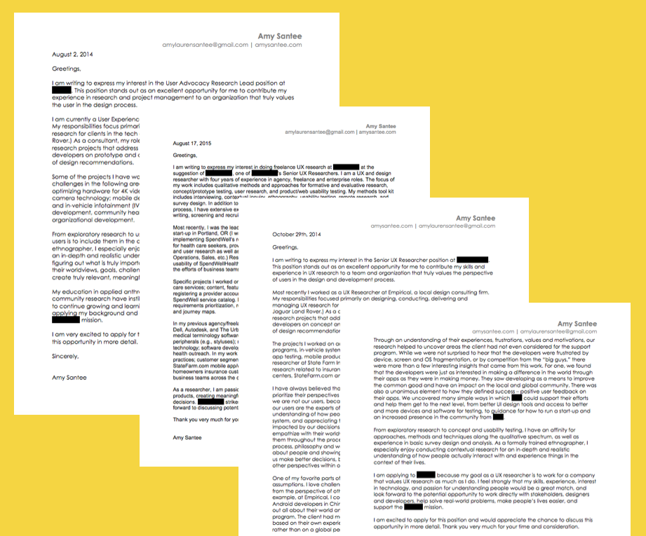 Ux Cover Letter