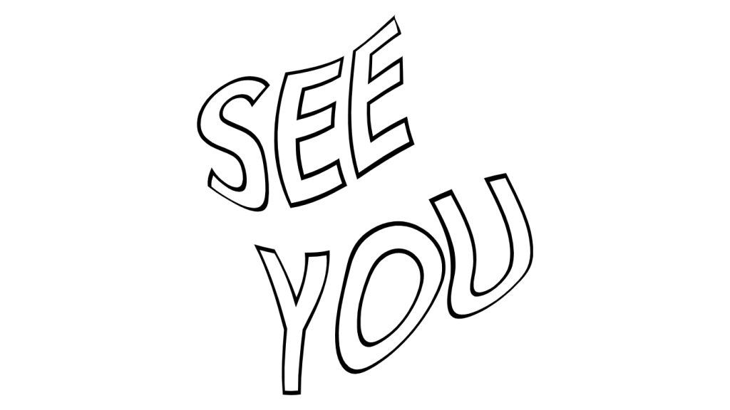"""wavy text that says """"see you"""""""